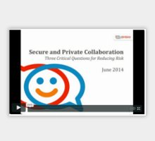 Secure and Private Collaboration: Three Critical Questions for Reducing Risk Logo