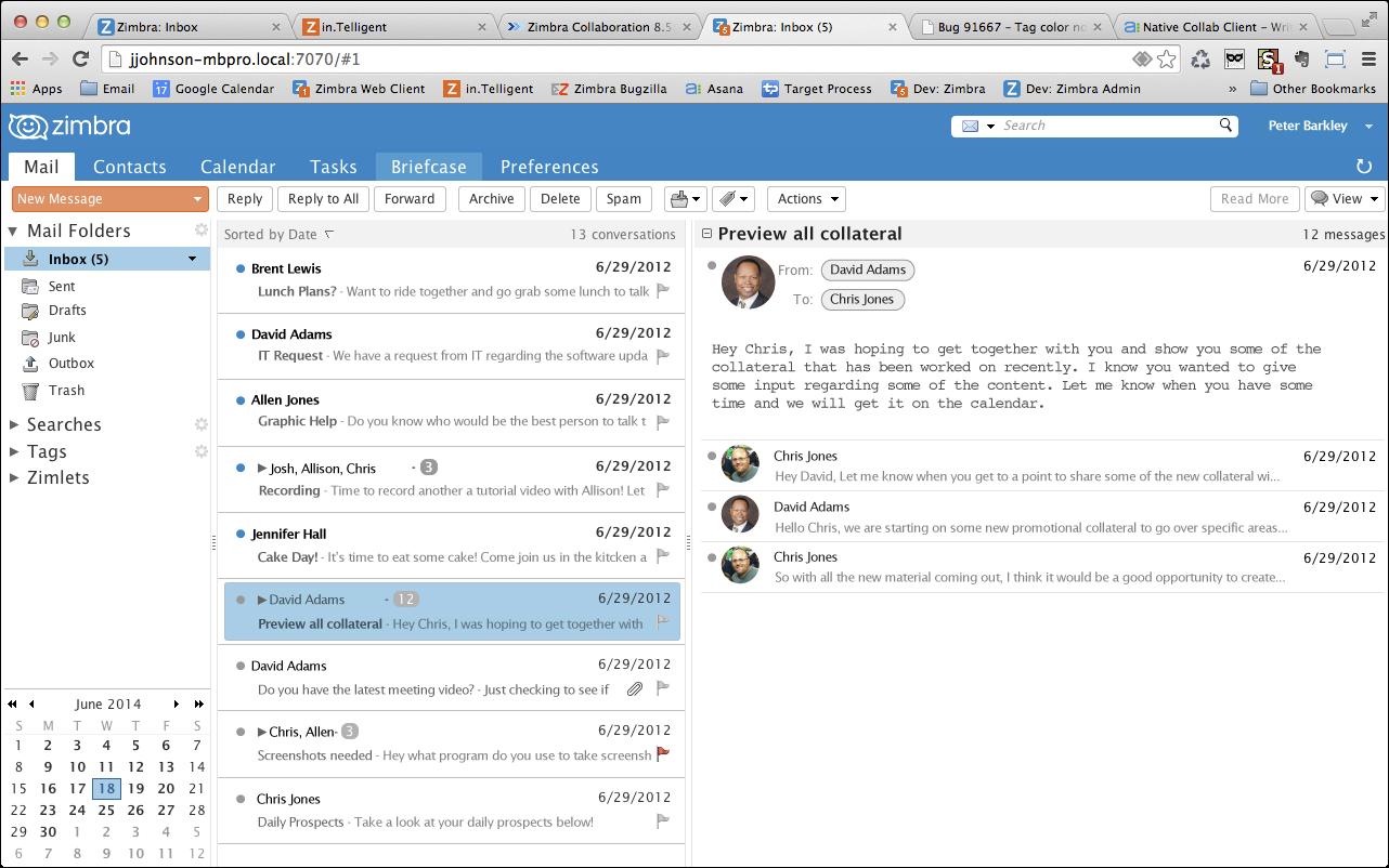 Yahoo! Zimbra Desktop screenshot