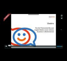 Perché' L' Universita' Bocconi è passata al sistema di posta e collaborazione Zimbra Logo